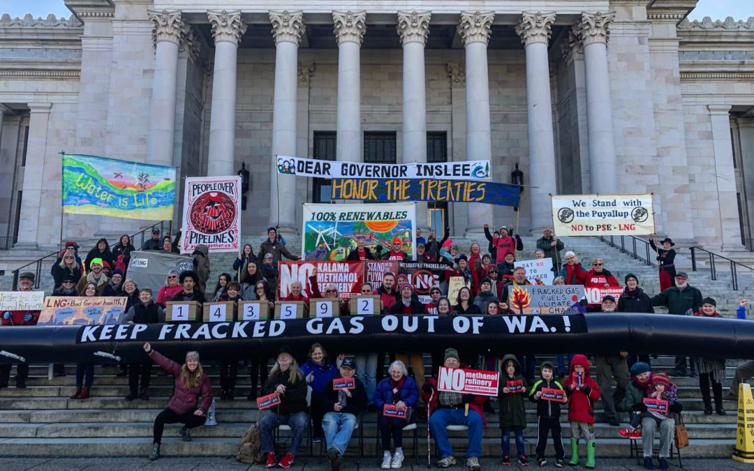 WA Climate Activists Deliver Nearly 150,000 Public Comments to Gov. Inslee Urging Him to Reject Fracked Gas